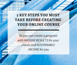 5 Step Online Course Prep