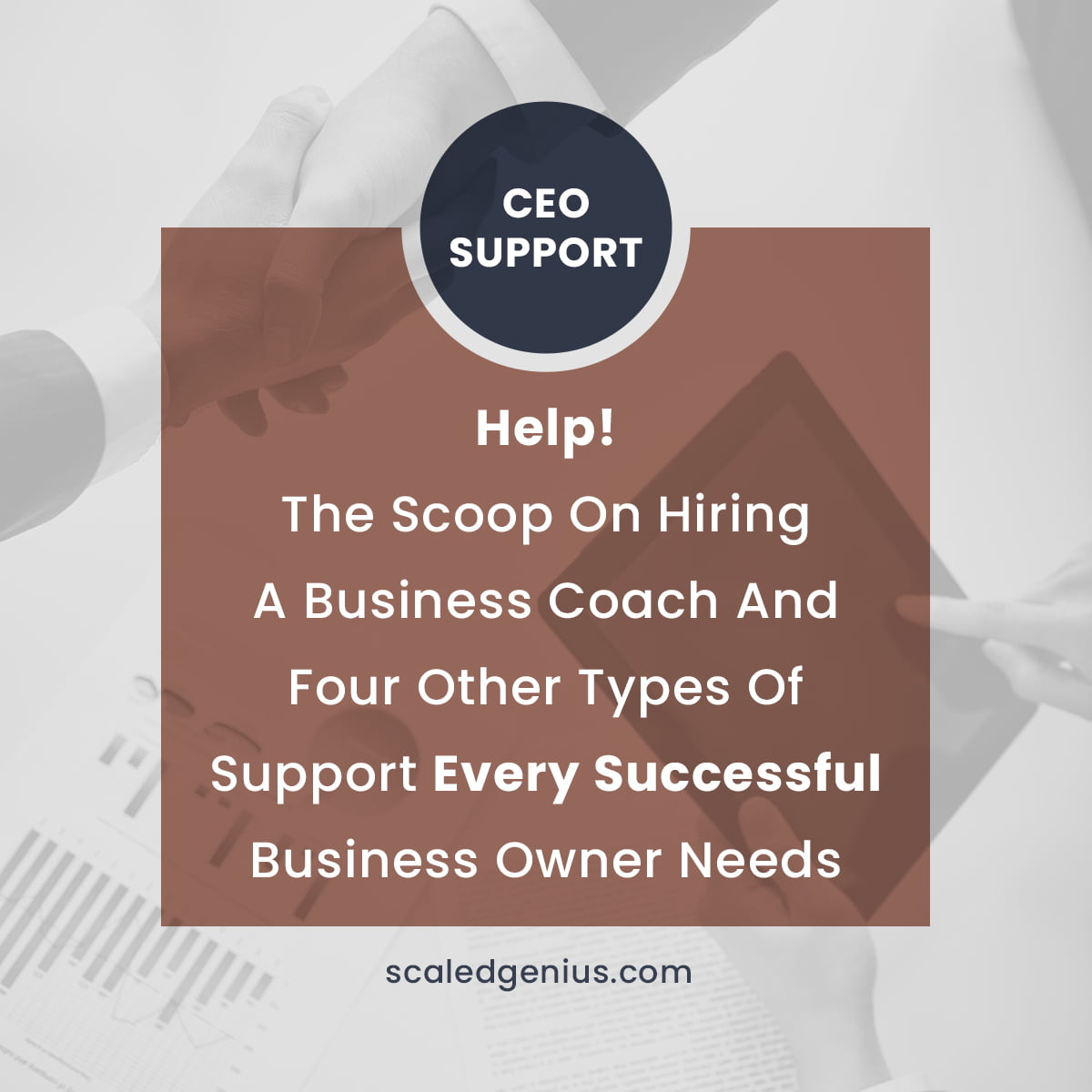 Help! The Scoop on Hiring a Business Coach and 4 Other Types of Support Every Successful Business Owner Needs